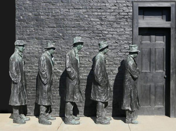 """Breadline"" by George Segal"