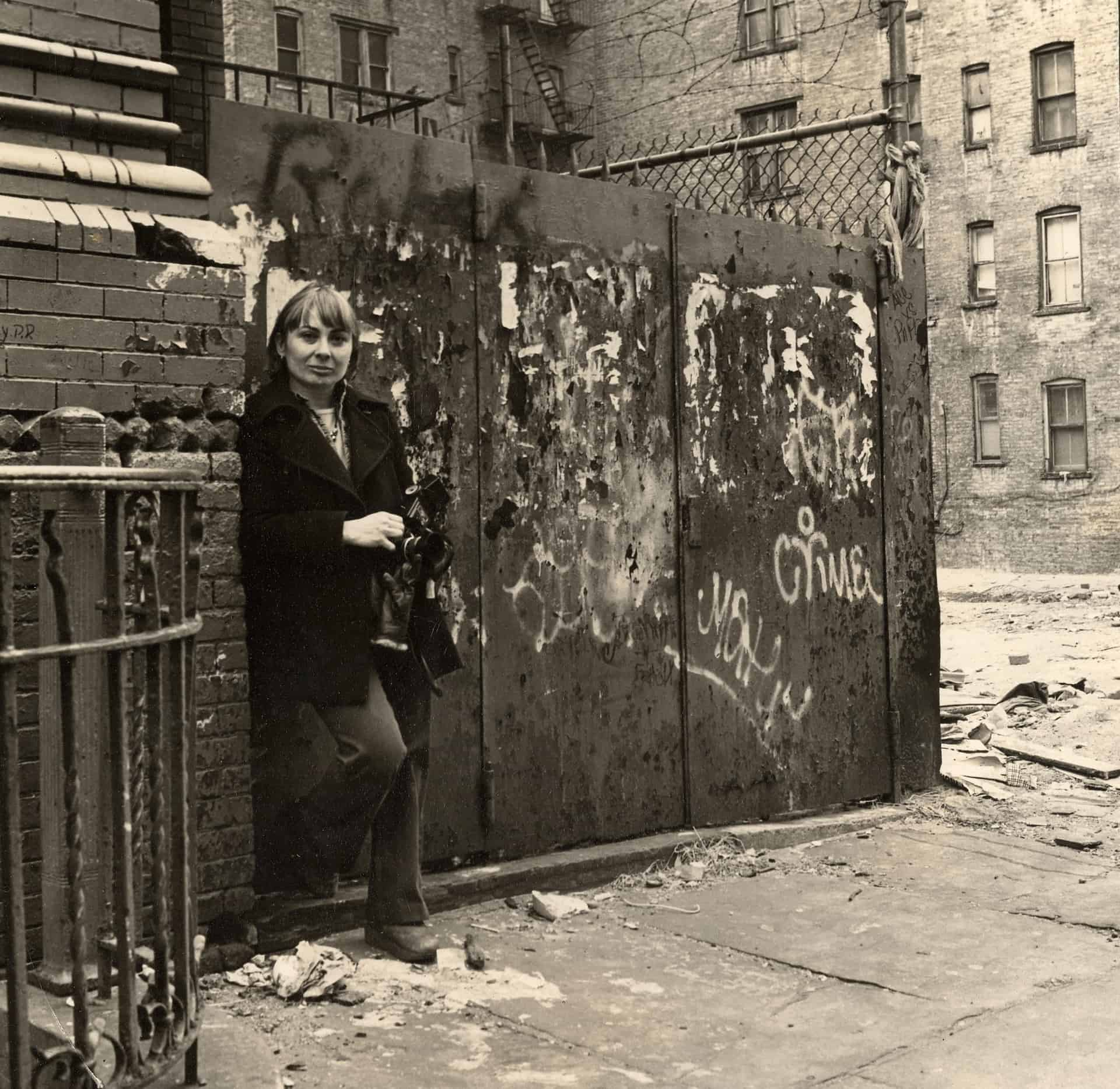 E 6th St NYC Helen Stummer by wall cropped