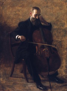 """The Cellist"" by Thomas Eakins, 1896"