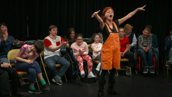 The Theater for Everyone Creative Drama class is led by Leslie Fanelli