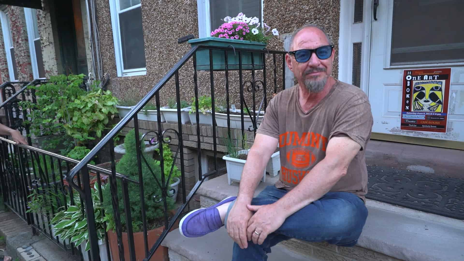 Poet Danny Shot at home in Hoboken