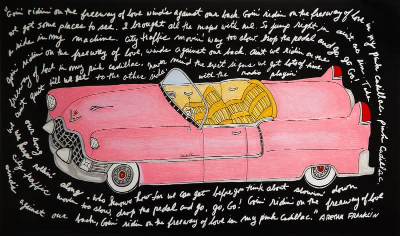 Bette Blank - Pink Cadillac artwork