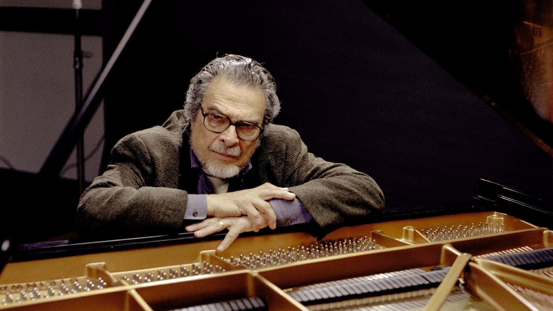 Leon Fleisher at a piano